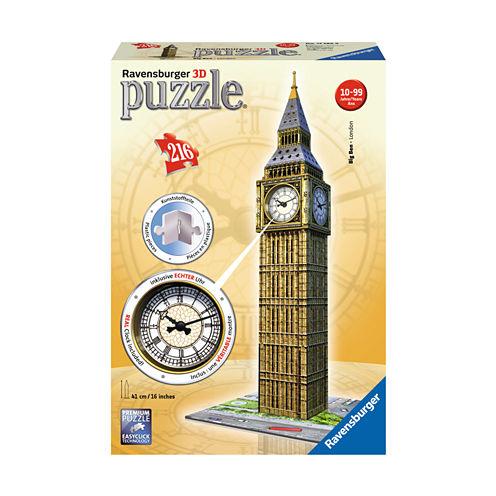 Ravensburger 3D Puzzle - Big Ben with Working Clock: 216 Pcs