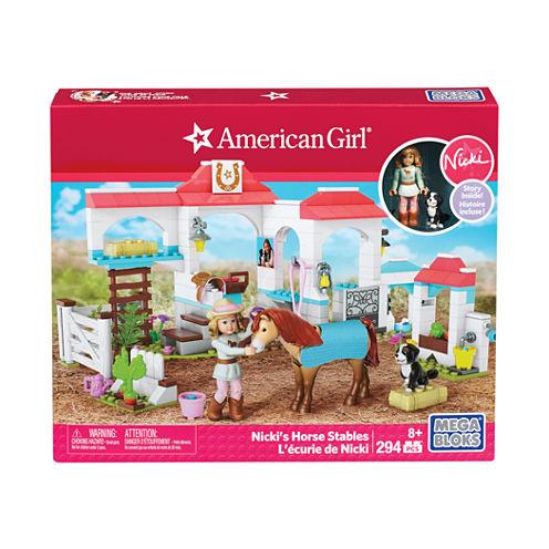 Mega Bloks American Girl - Nicki's Horse Stables:294 Pcs