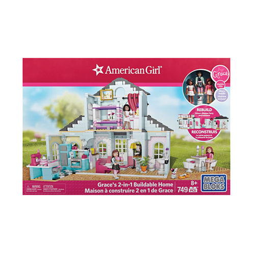 Mega Bloks American Girl - Grace's 2-in-1 Buildable Home: 749 Pcs
