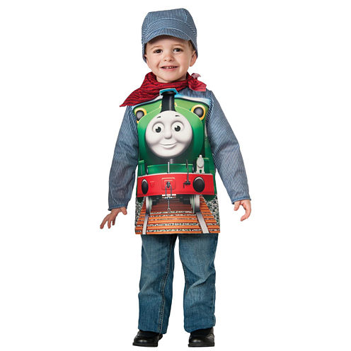 Thomas The Tank Deluxe Percy Train & Engineer Toddler Costume
