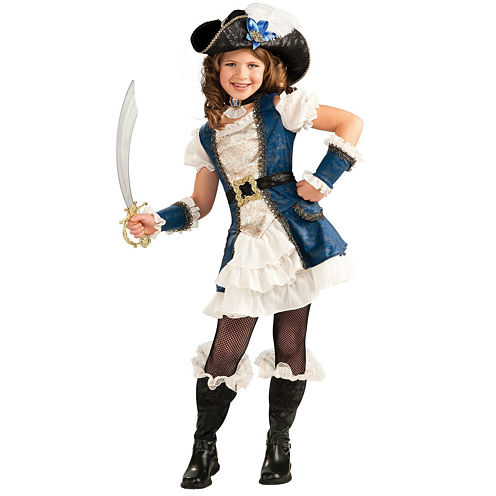 Blue Pirate Girl Child Costume - Small (4 6)