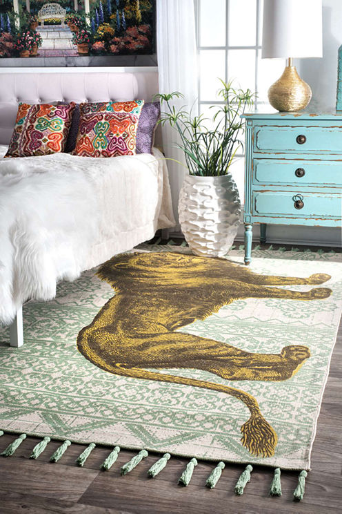 nuLoom Flat Woven Thomas Paul Collection Lion Contemporary Light Rug