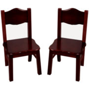 Guidecraft Classic Espresso Set of 2 Chairs