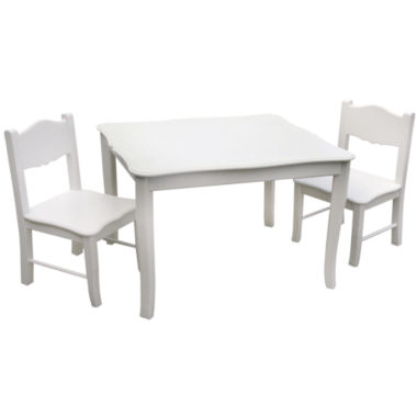 jcpenney.com | Guidecraft Classic White Table and Chairs Set