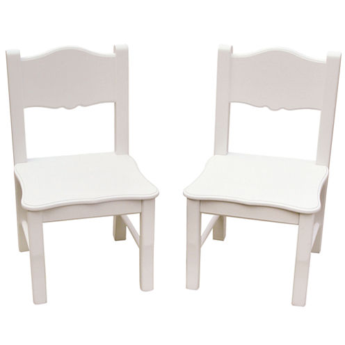 Guidecraft Classic White Set of 2 Chairs