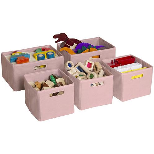 Guidecraft Pink 5-pc. Storage Bins