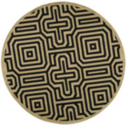 Courtyard Maze Indoor/Outdoor Round Rugs