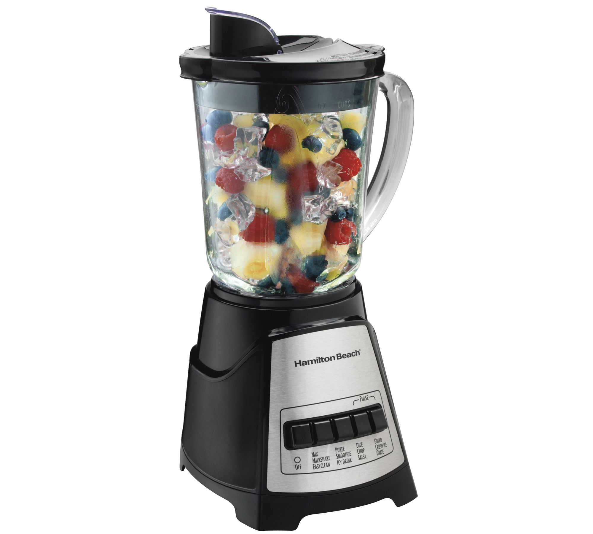 Hamilton Beach Wave Crusher Glass Jar Blender - Black
