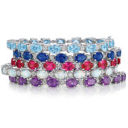 Gemstone & Diamond-Accent Tennis Bracelet