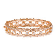 telio! by Doris Panos Rose-Tone Crystal Bangle