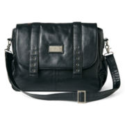 Wendy Bellissimo™ Black Messenger Diaper Bag
