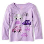 Joe Fresh™ Long-Sleeve Sparkle Tee - Girls 1t-5t