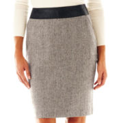 Worthington® Faux Leather-Trim Skirt