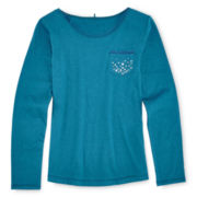Total Girl® Embellished Pocket Tee - Girls 6-16 and Plus