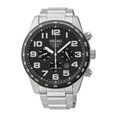 jcpenney.com | Seiko® Mens Stainless Steel Solar Chronograph Watch SSC229