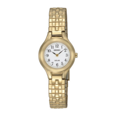 jcpenney.com | Seiko® Womens Gold-Tone Stainless Steel Solar Bracelet Watch SUP102