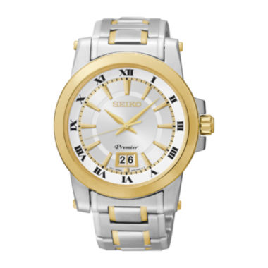jcpenney.com | Seiko® Mens Two-Tone Stainless Steel Automatic Watch SUR016