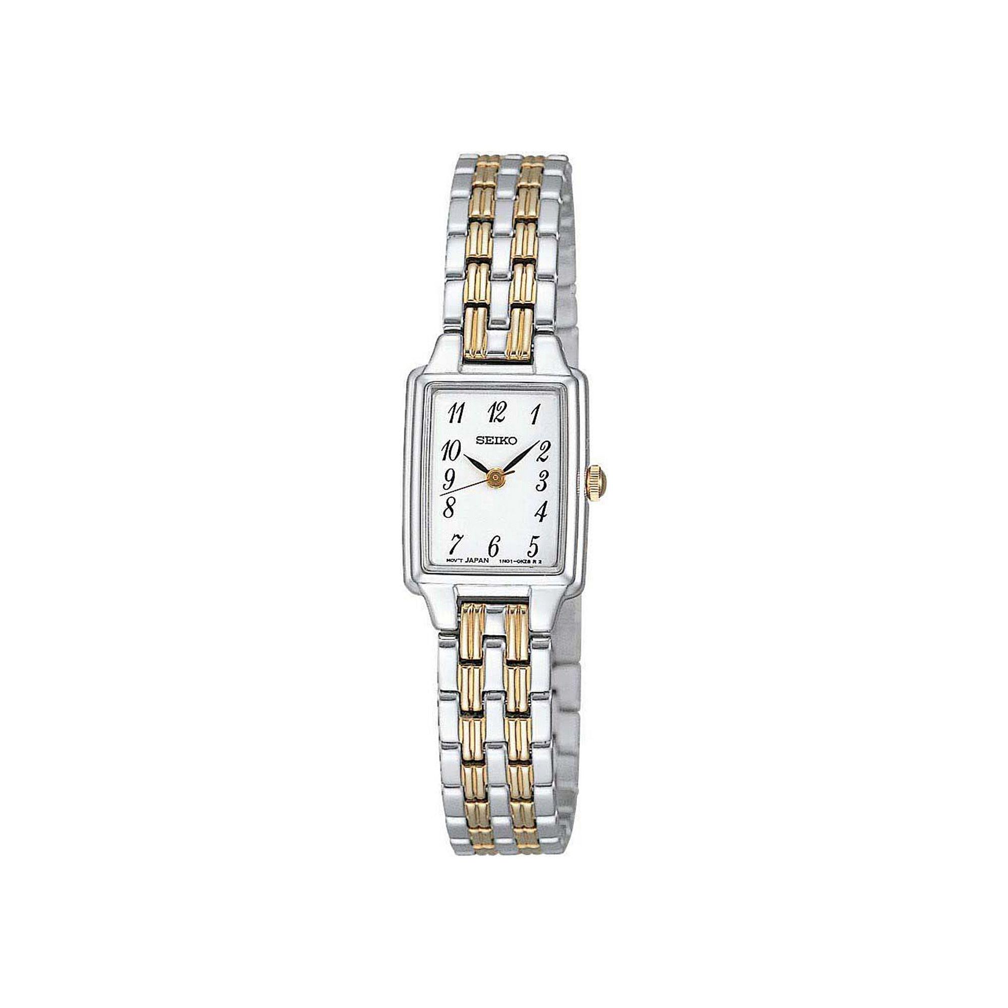 Seiko Womens Two-Tone Stainless Steel Bracelet Watch SXGL61