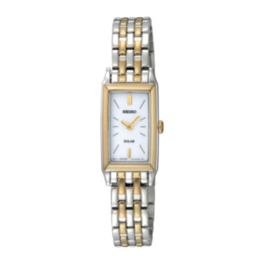 jcpenney.com | Seiko® Womens Two-Tone Stainless Steel Solar Bracelet Watch SUP028