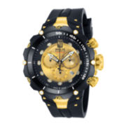 Invicta® Jason Taylor Mens Limited Edition Black Silicone Strap Watch