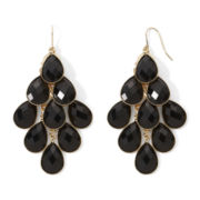 Mixit™ Black Faceted Chandelier Earrings