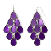 Arizona Purple Epoxy Chandelier Earrings