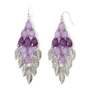 Arizona Purple Chandelier Leaf Earrings