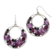 Arizona Purple Gypsy Hoop Earrings