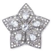 Liz Claiborne® Hematite Crystal Milgrain Star Pin