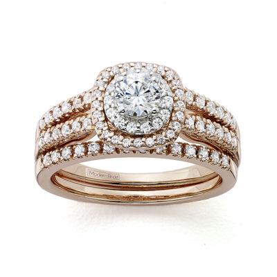 Modern Bride Signature 1 CT TW Certified Diamond 14K Rose Gold