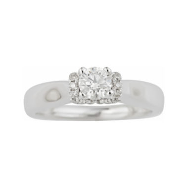 jcpenney.com | True Love, Celebrate Romance® 1/2 CT. T.W. Certified Diamond Solitaire Plus Ring