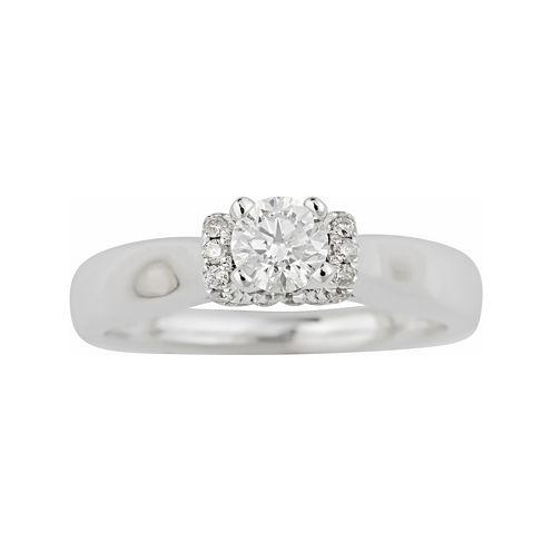 True Love, Celebrate Romance® 1/2 CT. T.W. Certified Diamond Solitaire Plus Ring