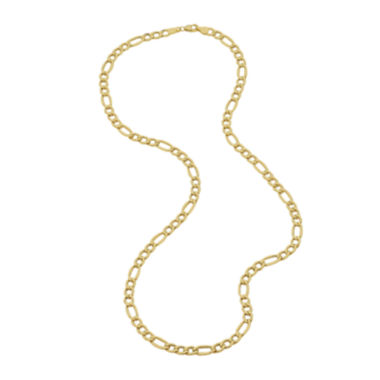 "jcpenney.com | Infinite Gold™ 14K Yellow Gold 22"" Hollow Figaro Chain Necklace"