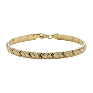 jcpenney.com | Infinite Gold™ 14K Yellow Gold Stampato X Bracelet