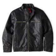 Arizona Pleather Zip-Front Moto Jacket – Boys 6-18