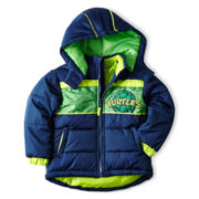 Teenage Mutant Ninja Turtles Zip-Front Puffer Jacket – Boys 2t-5t