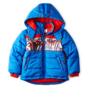 Spider-Man Zip-Front Puffer Jacket – Boys 2t-5t