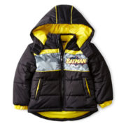 Big Chill® Batman Zip-Front Puffer Jacket – Boys 2t-5t