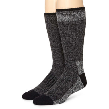 jcpenney.com | Dockers® 2-pk. Striped Thermal Boot Socks