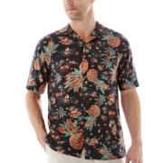 Island Shores™ Short-Sleeve Printed Silk Shirt