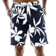 St. John's Bay® Patterned Microfiber E-Board Shorts