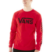 Vans® Classic Red Long-Sleeve Graphic Tee