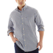 IZOD® Long–Sleeve Saltwater Poplin Shirt–Big & Tall