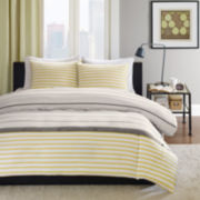 Ink+Ivy Taylor Striped Mini Duvet Cover Set