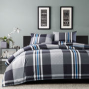 Ink+Ivy Nathan Plaid Mini Duvet Cover Set