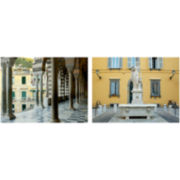 PTM Images™ Set of 2 Statues and Columns Canvas Wall Art