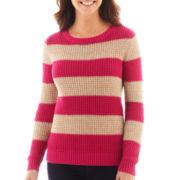a.n.a® Long-Sleeve Mesh Stitch Sweater