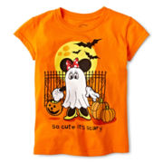 Disney Minnie Mouse Short-Sleeve Halloween Graphic Tee – Girls 2-12