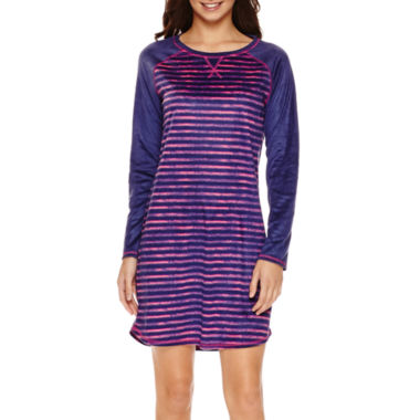 jcpenney.com | Sleep Chic Microfleece Long Sleeve Nightshirt