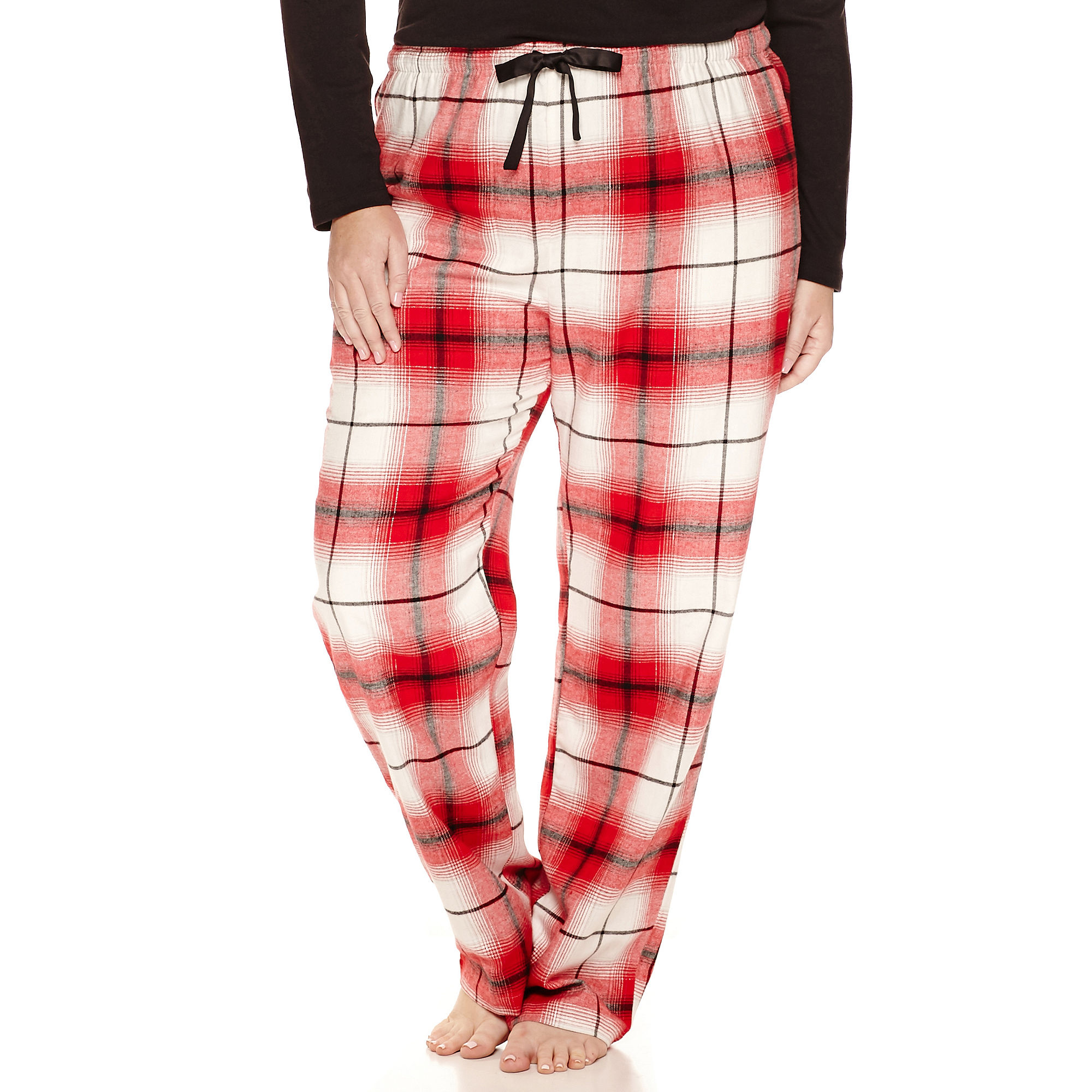 Sleep Chic Flannel Pajama Pants-Plus plus size,  plus size fashion plus size appare